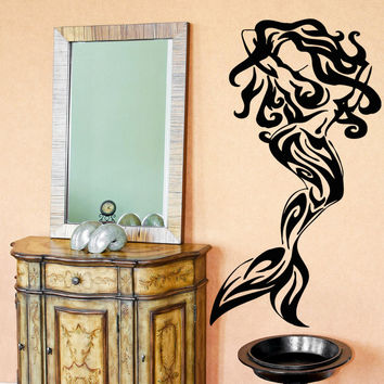 Vinyl Wall Decal Sticker Tribal Mermaid #OS_AA1688