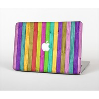 "The Thin Neon Colored Wood Planks Skin Set for the Apple MacBook Pro 13"" with Retina Display"