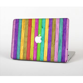 The Thin Neon Colored Wood Planks Skin Set for the Apple MacBook Air 11""