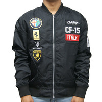 Club Foreign Italy Race Jacket In Black