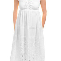 Sol Clothing Eyelet Gauze White Sundress