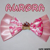 Aurora Hair Bow Sleeping Beauty Disney Inspired by bulldogsenior08