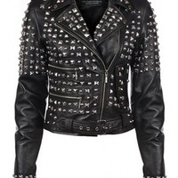 Kill Star Studded Leather Jacket