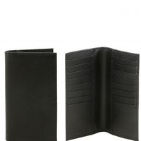 Leather Accessories For Women Exclusive Vertical Saffiano Leather Wallet/credit Cards Holder Tl141496 Black