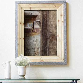 Kitchen Decor, Milk Can, Rustic Photography, Vertical Wall Art Print, Denver Colorado, Dining Room Art |'Rocky Mountain Milk'