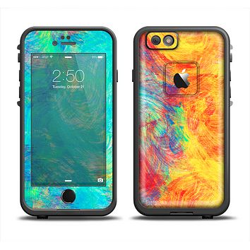 The Vibrant Colored Messy Painted Canvas Apple iPhone 6/6s Plus LifeProof Fre Case Skin Set