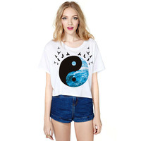 Stylish Print Strong Character T-shirts [6049105985]