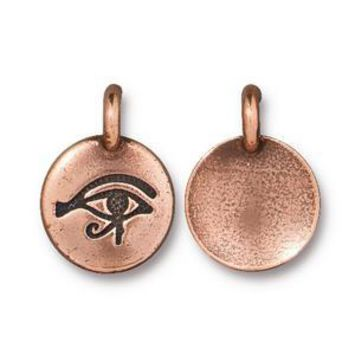 94-2503-18 - TierraCast Eye Of Horus Charm, Antique Copper | Pkg 2