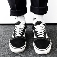 """""""Vans"""" Casual Shoes Men and Lady classic black cloth shoes Low Top"""