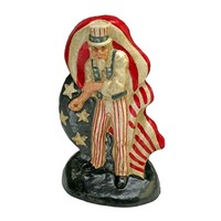 SheilaShrubs.com: Fighting Uncle Sam Cast Iron Bookend & Doorstop Sculpture SP122 by Design Toscano: Door Mats & Stops