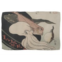 Seafood Bounty Japanese Art Image Kitchen Towel