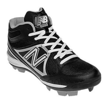new balance yb3000 youth mid molded cleats black silver