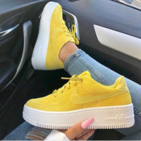 Nike AIR FORCE 1 Thick-bottomed Muffin Casual shoes