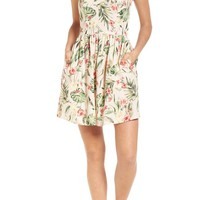 Speechless Tropical Lace Back Minidress   Nordstrom