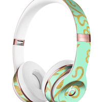Mint and Gold Floral v9 Full-Body Skin Kit for the Beats by Dre Solo 3 Wireless Headphones