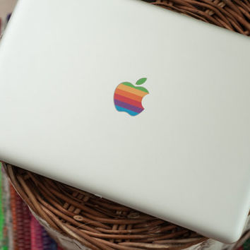 Apple Rainbow Logo Retro Apple Logo Sticker Apple Logo Decal for Macbook Air, Macbook Pro, Macbook Retina