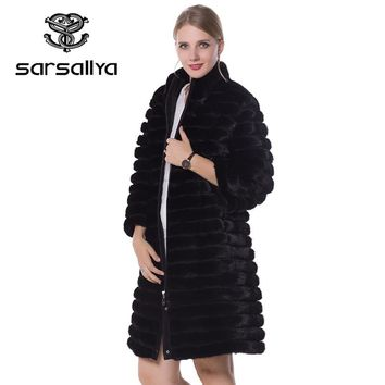 SARSALLYA real fur Women fur coats,Genuine Leather, styles mink coat ,Fashion Slim Winter coats of fur,sell well natural fur