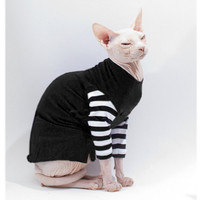 Sphynx Clothes Cat shirt Black Strange Stripes Cat Sweater Goth Nightmare before Christmas grey with and black and white stripes dog clothes
