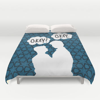 Okay-The Fault in Our Stars Duvet Cover by Anthony Londer | Society6
