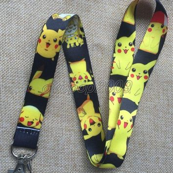 Lot 10Pcs Pikachu  Anime Mobile Cell Phone Lanyard Neck Straps Party Gifts S168Kawaii Pokemon go  AT_89_9