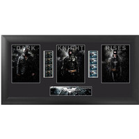 Batman Dark Knight Rises Trio Framed Film Cell