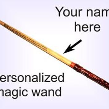 Magic Wand Harry Potter Personalized Quote Name Unique Beautiful Gift Keepsake