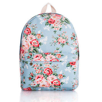 Cute Canvas Korean Lovely Backpack = 4887623940