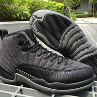 "Air Jordan 12 ""Wool"" AJ 12 Retro Men Basketball Shoes"