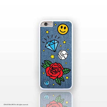 Denim patches X/SE/6/6s/7/8 plus iPhone case-jeans iPhone case-Denim patches Galaxy S4/S5-jeans-denim-Huawei phone case-Natura Picta-NP212