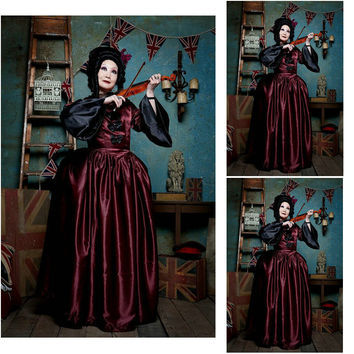 Victorian Corset Gothic/Civil War Southern Belle Ball Gown Dress Halloween dresses US 4-16 R-738 Alternative Measures - Brides & Bridesmaids - Wedding, Bridal, Prom, Formal Gown