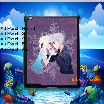 Frozen Elsa & Jack One Heart Personalized Covers for iPad Mini, ipad 2, ipad 3, iPad 4 and iPad Air