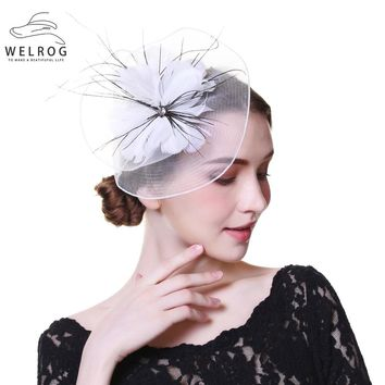 Wool Felt Top Hat Party Mesh Hat Ribbons And Feathers Fascinators Hats