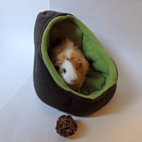 Avocado Cuddle Cave Bed - for Guinea Pigs, Hedgehogs, and Other Small Animals