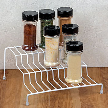 Bulk Essentials White Wire Step Storage Rack at DollarTree.com