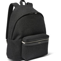 Saint Laurent - Leather-Trimmed Felt Backpack | MR PORTER