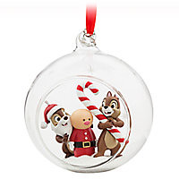 Chip 'n Dale Glass Globe Sketchbook Ornament