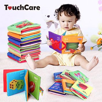 Baby Toy Sun Cloth Book Baby Toys Early Learning Education Animals Kids Book Soft Baby Rattles