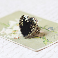 heart in the shadows ring by Ollipop - $39.99 : ShopRuche.com, Vintage Inspired Clothing, Affordable Clothes, Eco friendly Fashion