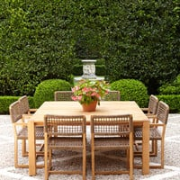 Wood & Wicker Outdoor Dining Furniture