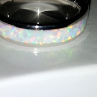 Opal & Sterling Silver Ring Band
