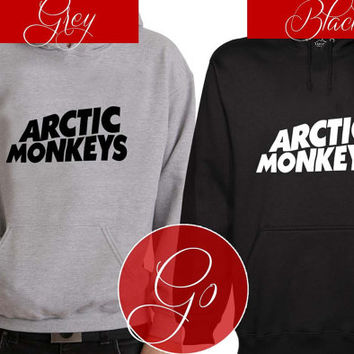 Arctic Monkey Hoodie Sweatshirt Sweater Shirt black and white Unisex