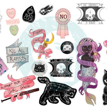 Set #250. Tumblr Stickers. Stickers. Set of stickers. Decals