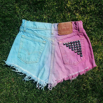 Vintage Pastel Cotton Candy Levi Shorts