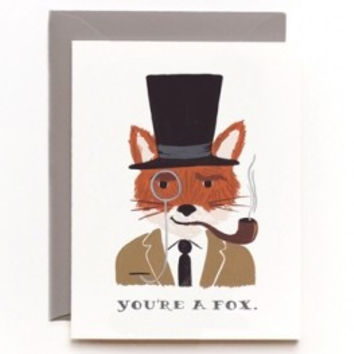 'You're a Fox' single card