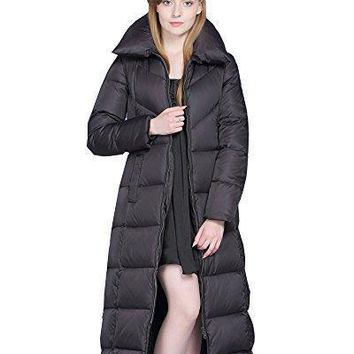 UAISI Women Thick Goose Down Coat Long Winter Parka Jacket Canada Goose Women's