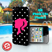 Retro Barbie - Print on Hard Case - Fit For iPhone 4,4S, and 5 - Please leave a message for your iPhone Case & Color Case