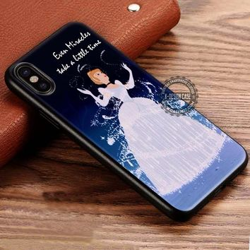 Even Miracles Cinderella Art Cartoon iPhone X 8 7 Plus 6s Cases Samsung Galaxy S8 Plus S7 edge NOTE 8 Covers #iphoneX #SamsungS8