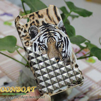 Tiger Pattern Hard Case Cover  With Silvery Stud by moonboat