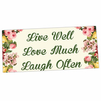 "NL Designs ""Live, Love, Laugh"" Floral Typography Desk Mat"