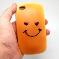 Bread Feel Smiley and lovely-inch Face Soft case for iPhone 4/4S -Bread Scent